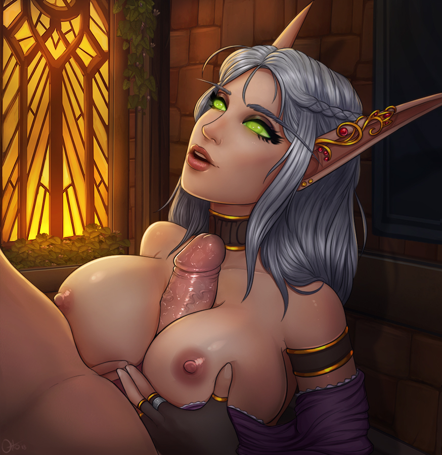 warcraft elf female of blood world Call of duty aw song